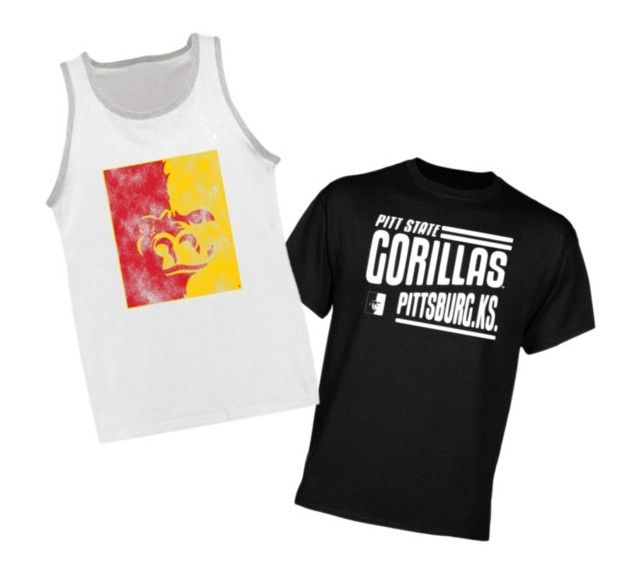 """""""Awesome new tees"""" by pittstategear on Polyvore"""