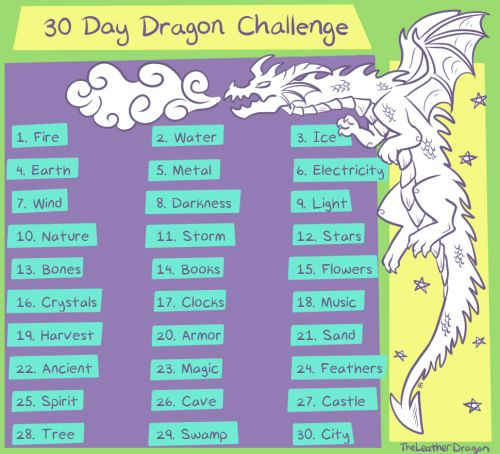 I've looked everywhere for one of these and couldn't find anything. Here's a little art challenge for Dragon artists, you can do them to the best of your imagination!