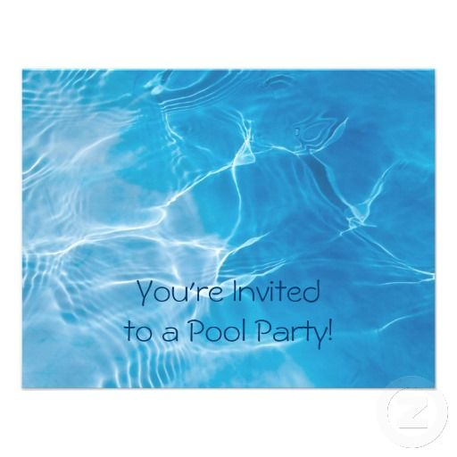 Best Pool Party Invitation Templates Images On