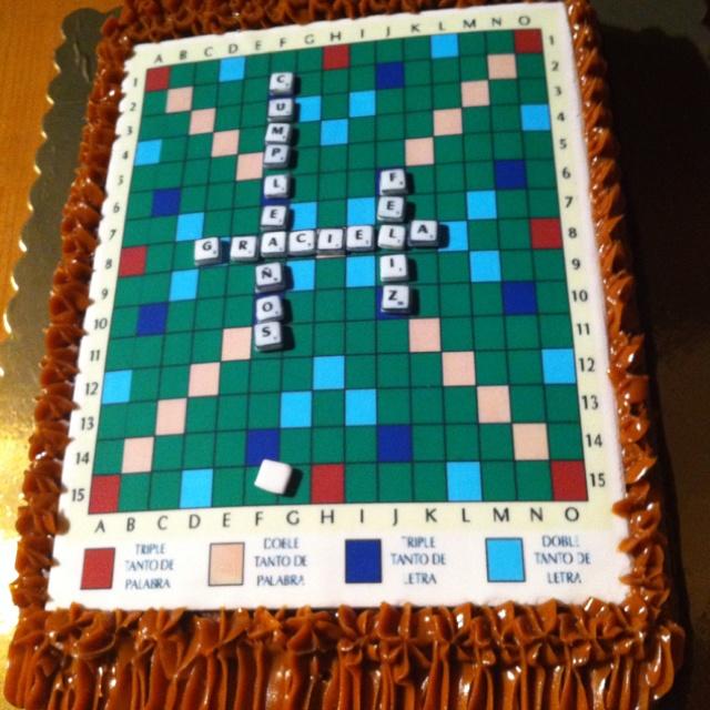 Scrable #cake ; #torta de Scrable por @acuariana7