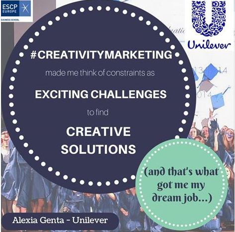 Exciting challenges help you to find creative solutions - By Alexia Genta (MMK Class of 2014)