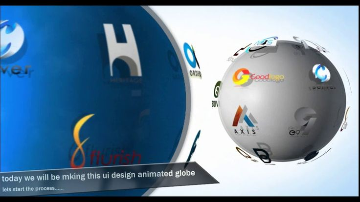 After Effect Tutorials - How to Create 3D LOGO Globe Animation-1