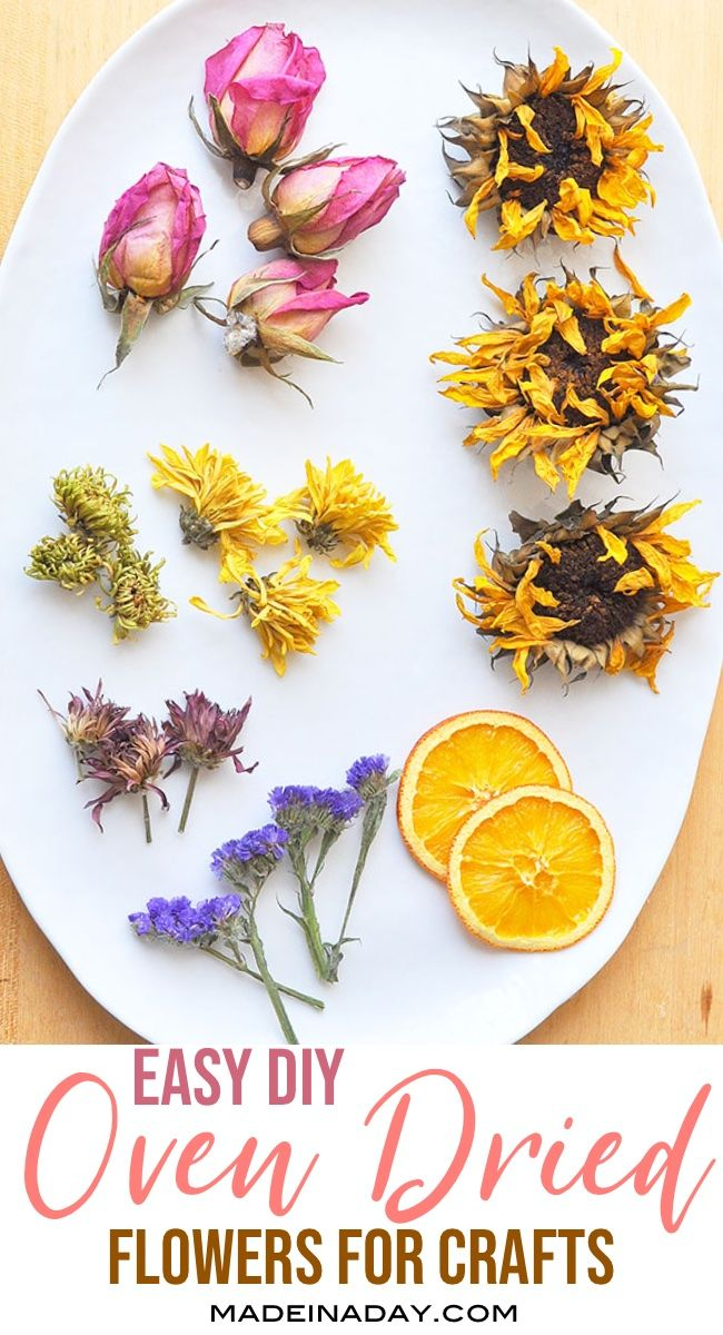 Dry out those beautiful floral bouquets fast using low heat on your oven. Use dried flowers for crafts and potpourri!