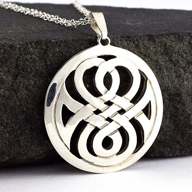 Silver Celtic Interlace Pendant by Aidan Breen Sterling