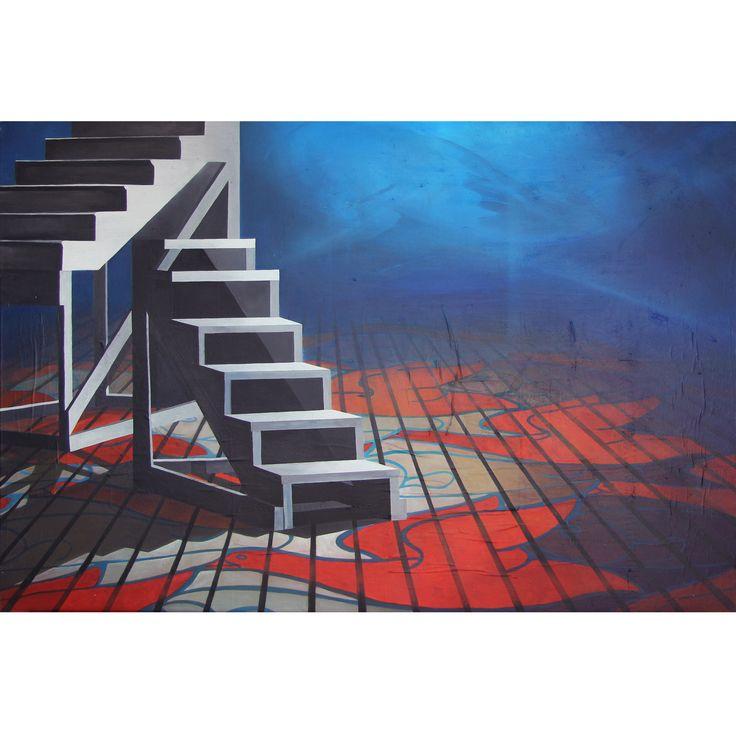 MEDIUM BLUE ©2014, acrylic on paper and canvas, 120 x 80 X 2 cm / 47.28 x 31.52 X 0.78 inch  Series: 30/TRENTESIMI  #SCENOGRAPH2ART #GaeTanoAndValentina #Sem #painting #FineArt #Acrylic #Art #искусство #Ceruleo