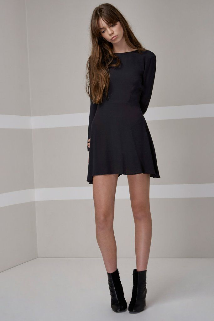 The Fifth Label - Crystal Nights Long Sleeve Dress - Black