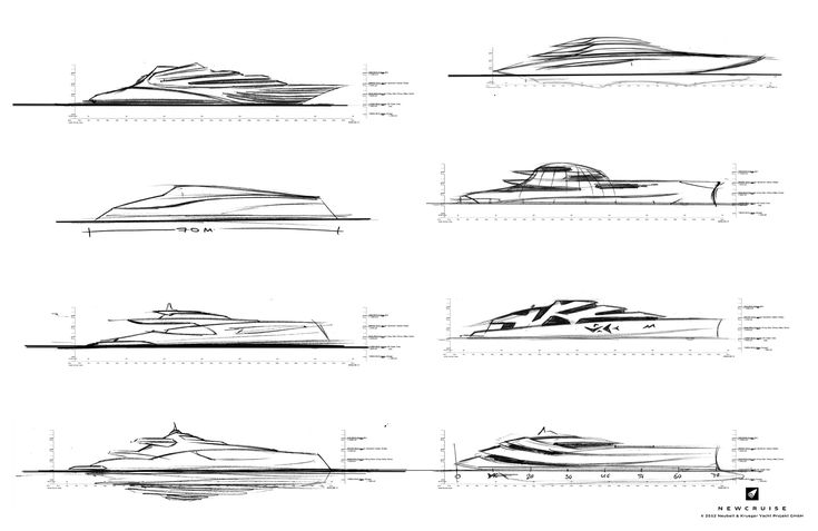 First steps of a new profile concept study by NEWCRUISE Yacht Projects & Design