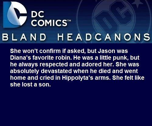 Wonder Woman loved Jason Todd