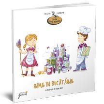 """""""Rime în bucătărie"""" - Lucia Muntean - Varsta: 4-6 ani; Cartea îi introduce pe copii într-un univers fascinant, plin de obiecte și activități specifice, extrem de interesante și educative pentru cei mici. Poeziile și ilustrațiile acestei cărți răspund deopotrivă nevoii copiilor de descoperire, dezvoltare a simțurilor și de aventură, precum și nevoii părinților de a le crea celor mici obiceiuri alimentare sănătoase, care le vor servi pe tot parcursul vieții."""