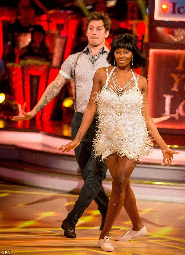 Putting on a show: Former pop star Jamelia was the perfect flapper girl in her sexy outfit...