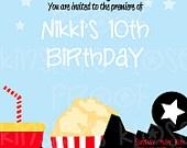 Movie Party - Movie Night Party Printables - Movie Night Birthday Party Boy Birthday Girl Birthday Children Teens