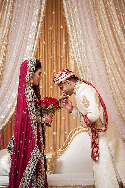 Wedding of Hajra and Imran by Maha Designs Makeup: Saleha AbbasiHair: Roz Morris, Studio 10, Naperville