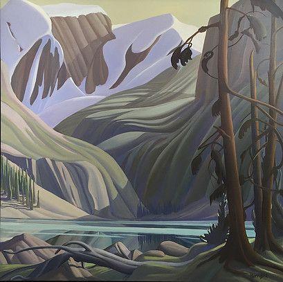 Ken Harrison - Sergeants Point Lake O'Hara 36 x 36 Oil on canvas