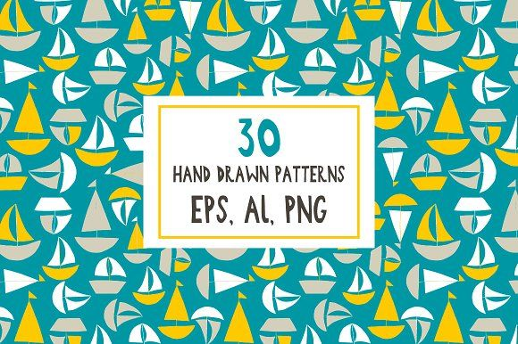 for BOYS Seamless Patterns by Katerina on @creativemarket