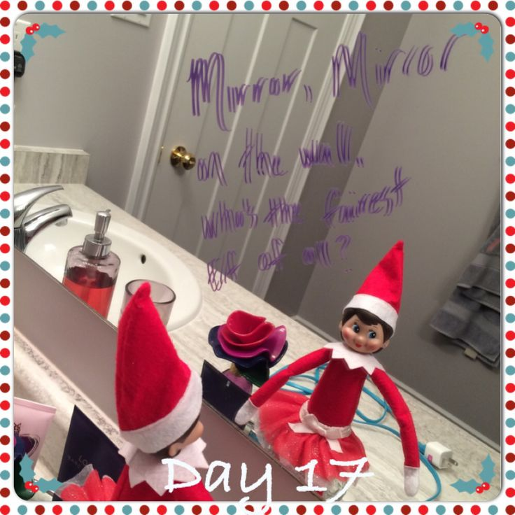 Mirror mirror on the wall, who's the fairest elf of all? Twinkle Toes of course!