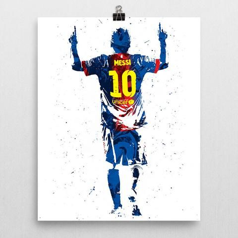 """Lionel Andrés """"Leo"""" Messi poster. An Argentine professional footballer who plays as a forward for the Argentina national team and Spanish club Barcelona. Considered the best player in the world and ra"""