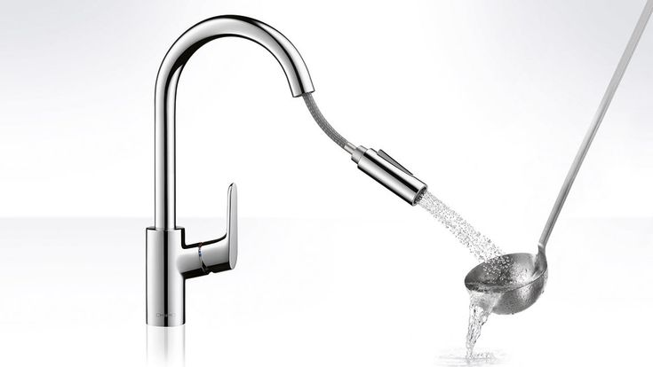 Focus kitchen mixers from Hansgrohe: with 2-jet hand spray also for price-conscious culinary enthusiasts.