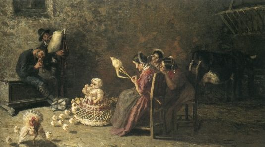 Zampognari in Brianza, 1883-1885,Olio su tela, Tokyo, National Museum of Western Art