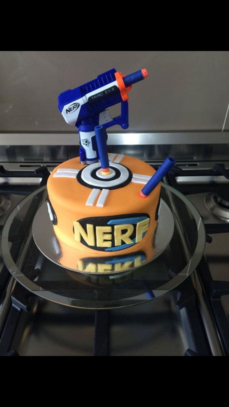 Nerf Gun Cake 4 Goodness Cakes Pinterest Nerf Guns