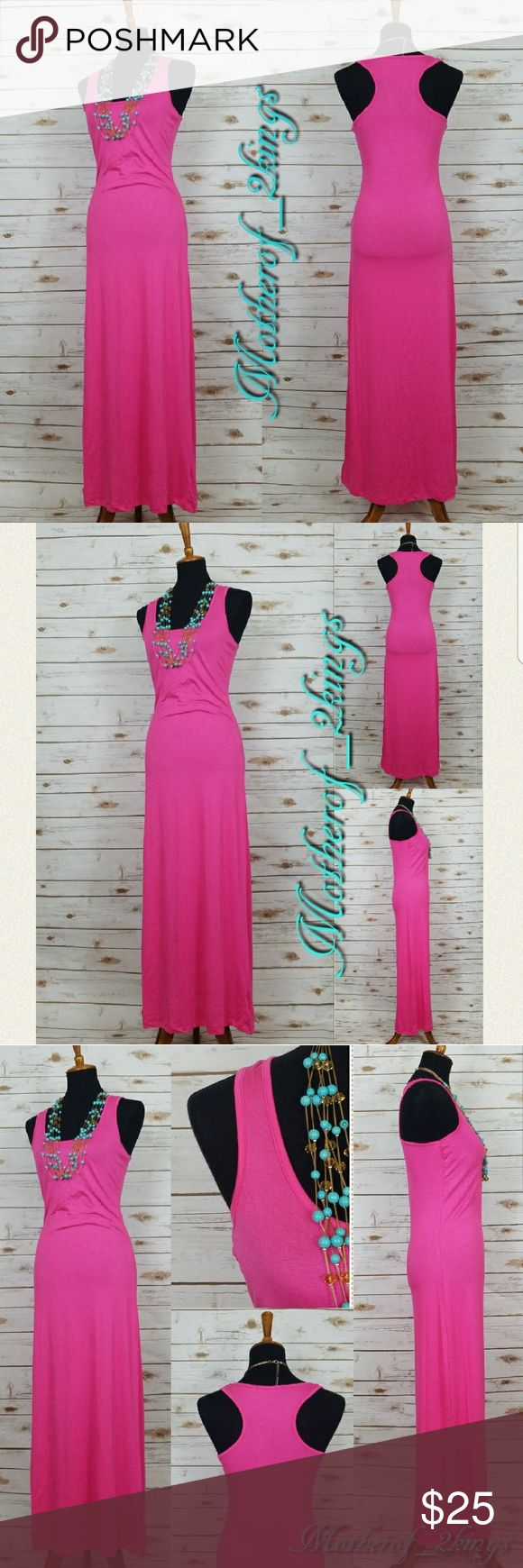 "🎀NEW ARRIVAL🎀 PINK RACERBACK MAXI DRESS PINK RACERBACK MAXI DRESS is SUPER CUTE!!! 😍  PERFECT for Summer. Dress it up or down!   👗 95% Rayon; 5% Spandex  Length:  52"" Dresses Maxi"