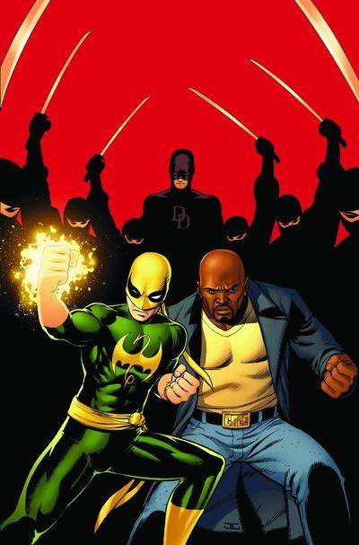 Daredevil, Iron Fist and Luke Cage by John Cassaday