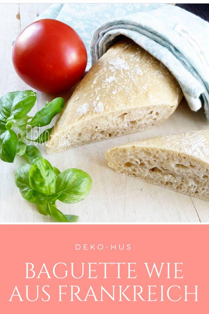 Schnelles und einfaches Rezept für leckeres Baguette. Ob als Abendbrot oder als Beilage zum Grillen.