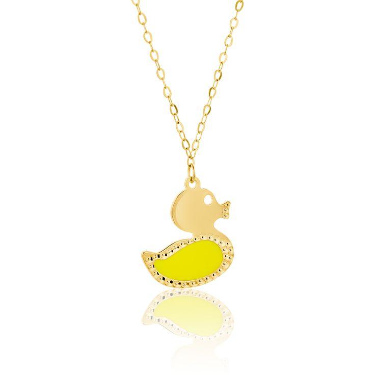 Κολιέ Candy Collection από κίτρινο χρυσό 9Κ με σμάλτο