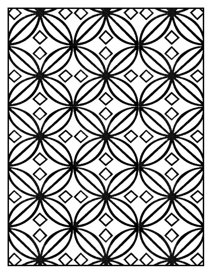 art deco pattern adult coloring page style n6 from the gallery