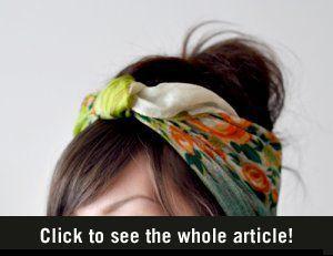 Sjaal haarband