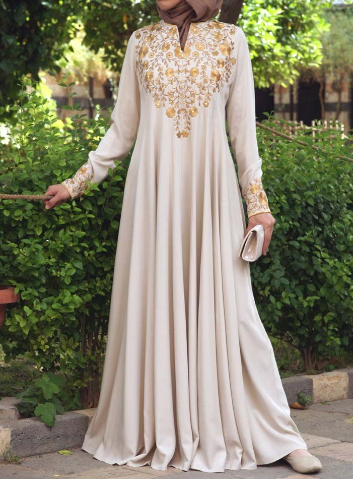 SHUKR USA | Huda Embroidered Gown