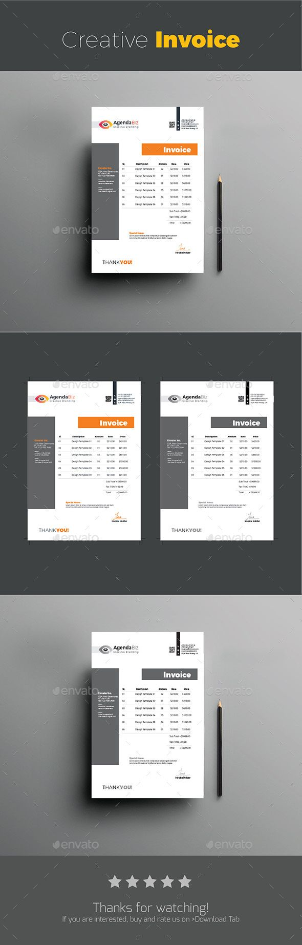 proposal report template%0A Creative Invoice  Proposals  u      Invoices  Stationery