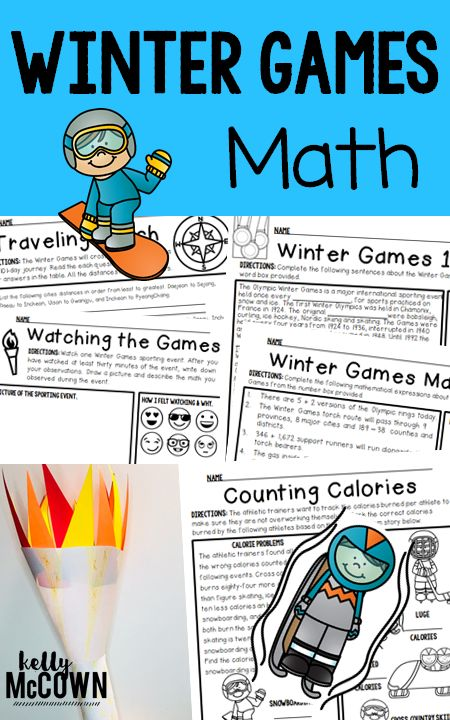 Winter Games Math Activities for Upper Elementary students. Grades 3, 4, and 5 will be engaged with these Olympic theme Math activities. Make connections between real world applications and Math. Winter Olympics 2018 Elementary Math Activities.