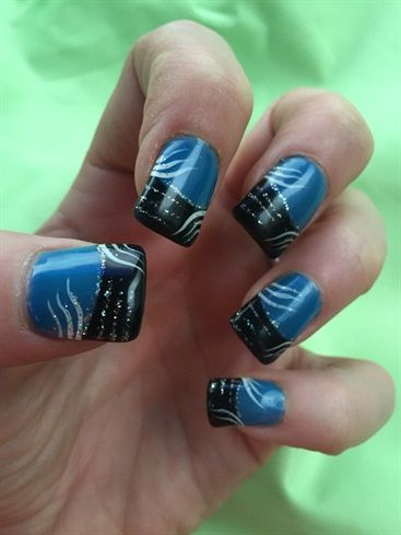 Carolina Panthers Colors W/some Sparkle by Drawbackpse
