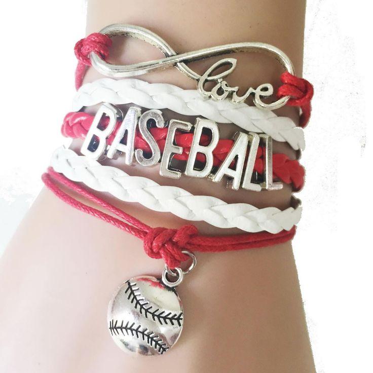 Infinity Love Handmade Baseball Bracelet