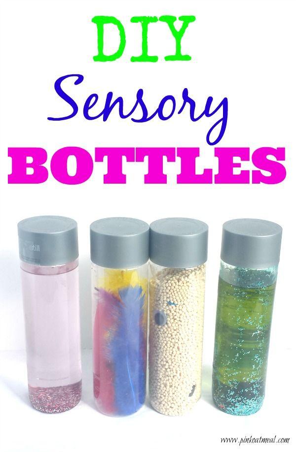 Sensory Bottles - Pink Oatmeal