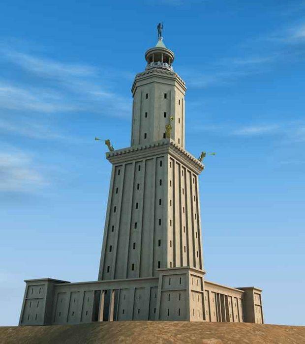 Le Phare d'Alexandrie, l'une des 7 merveilles du monde antique