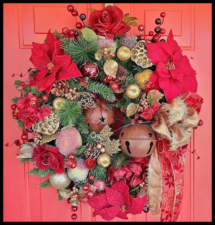 Christmas Wreaths For Front Door Sleigh Bells Ring