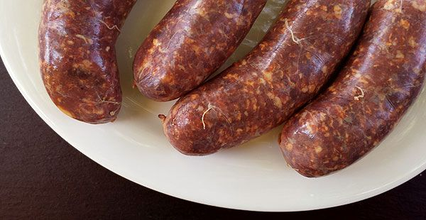 Argentine style fresh chorizo sausages, from Hunter Angler Gardener Cook.