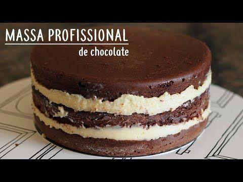 BOLO DE CHOCOLATE PROFISSIONAL PARA ANIVERSÁRIO   MASSA ESPECIAL   - YouTube