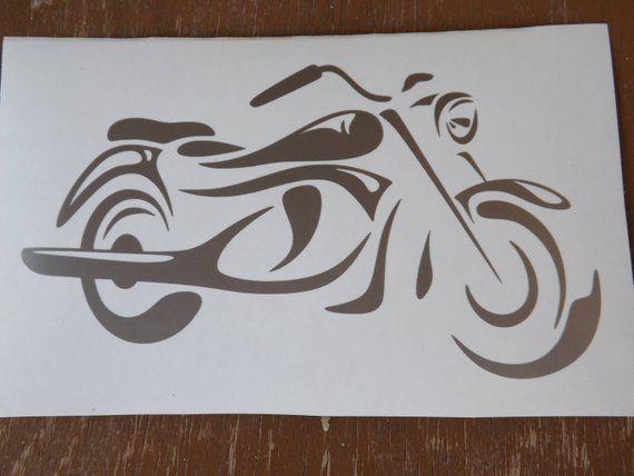 Motorcycle Vinyl Decal Bike Etsy Paper Art Diy Vinyl Decals Doodle Drawings