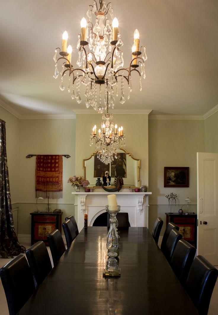 The dining room in Tuhitarata Estate at Lacewood wedding venue, Wairarapa New Zealand.
