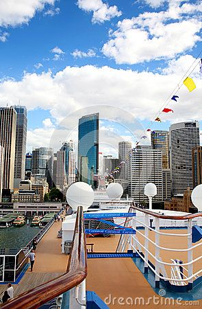 The city of Sidney seen from the deck of the Carnival Legend.