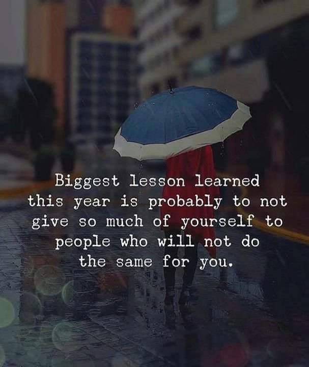 Biggest lesson learned this year..