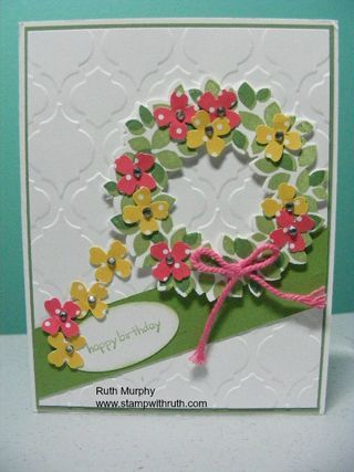 Love this---adding Punched Flowers