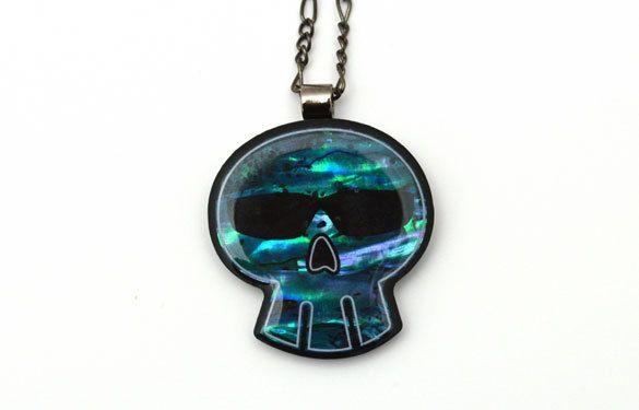 Paua World - Paua Shell Skull pendant featuring wrap around shades, $29.90 (http://www.pauaworld.com/paua-shell-skull-pendant-featuring-wrap-around-shades/)