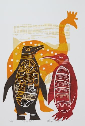 Sheyne Tuffery Manu - Tolu woodblock
