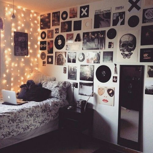 room, bedroom, and grunge image                              …