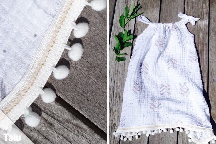 Sew children's dress – instructions and cut for a summer dress  – Nähen