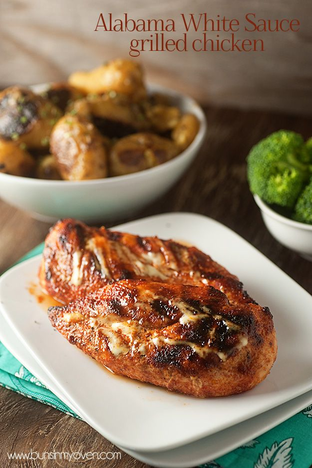 Alabama White Sauce Grilled Chicken recipe ? buns in my oven