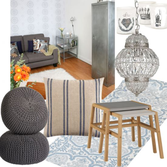 Industrial Chic Living Room Use Shades Of Grey To Give Your Space A Vintage  Look With An Urban Edge By Style At Home